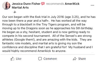 Jessica Dunn Fisher 1, AmeriKick Martial Arts Lenexa KS