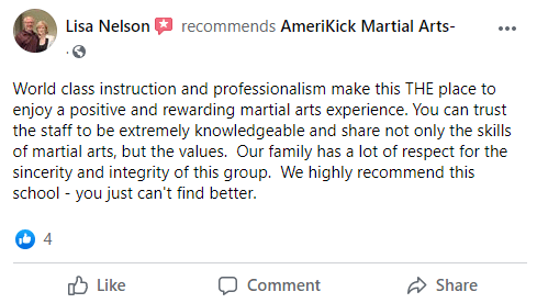 Lisa Nelson, AmeriKick Martial Arts Lenexa KS